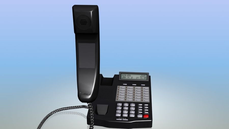 Офисный телефон royalty-free 3d model - Preview no. 4
