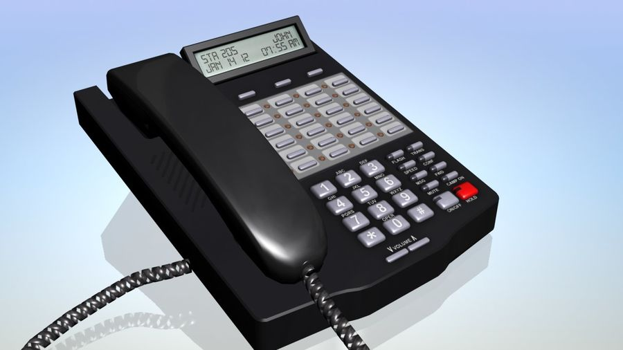 Telefon biurowy royalty-free 3d model - Preview no. 2