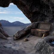 Ambiente del tesoro pirata modelo 3d