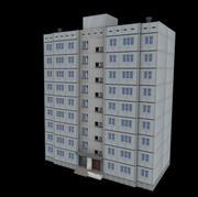 Kamienica panelowa 9 piętro 3d model
