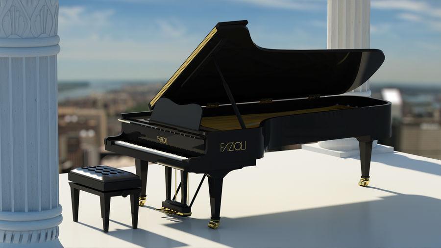 FAZIOLI CONCERT GRAND PIANO royalty-free 3d model - Preview no. 1