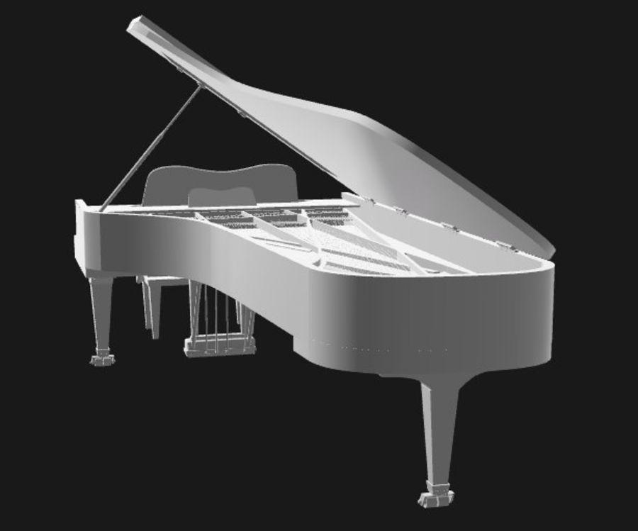 FAZIOLI CONCERT GRAND PIANO royalty-free 3d model - Preview no. 4