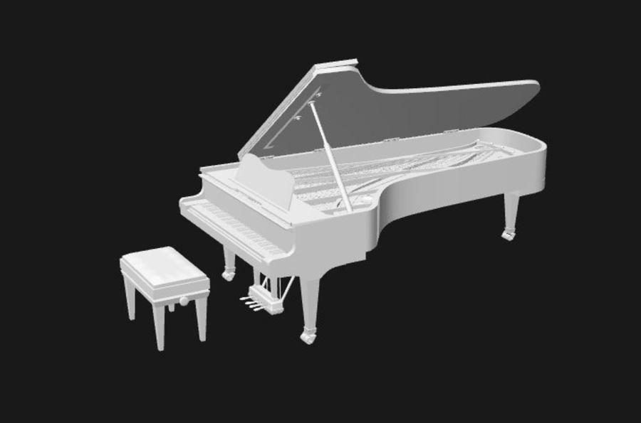 FAZIOLI CONCERT GRAND PIANO royalty-free 3d model - Preview no. 2