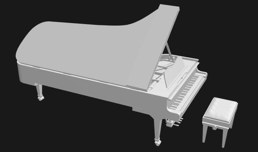 FAZIOLI CONCERT GRAND PIANO royalty-free 3d model - Preview no. 5