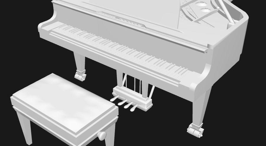 FAZIOLI CONCERT GRAND PIANO royalty-free 3d model - Preview no. 6