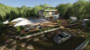 Dream House Oasis 3d model