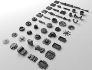 Technical parts collection 2 3d model