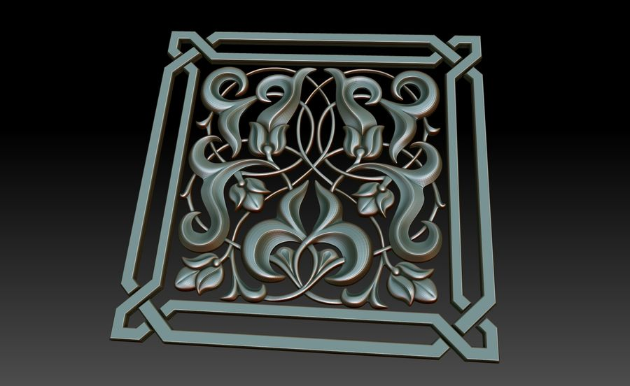 Dekoratif eleman royalty-free 3d model - Preview no. 5