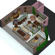 Cuppa乔咖啡厅室内 3d model