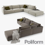 Sofa Poliform Bristol 3d model
