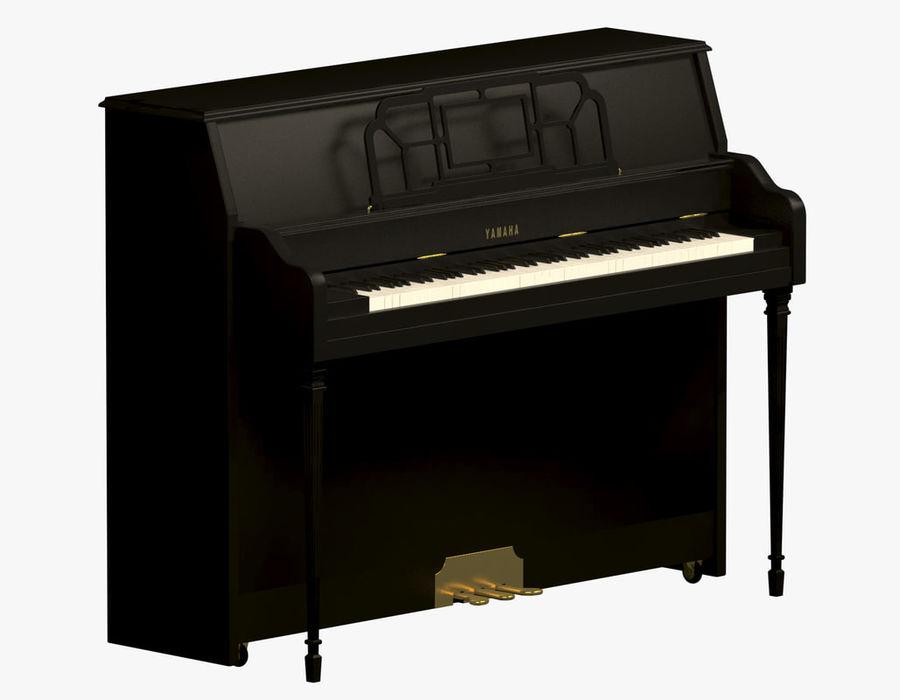 Пианино Yamaha royalty-free 3d model - Preview no. 1