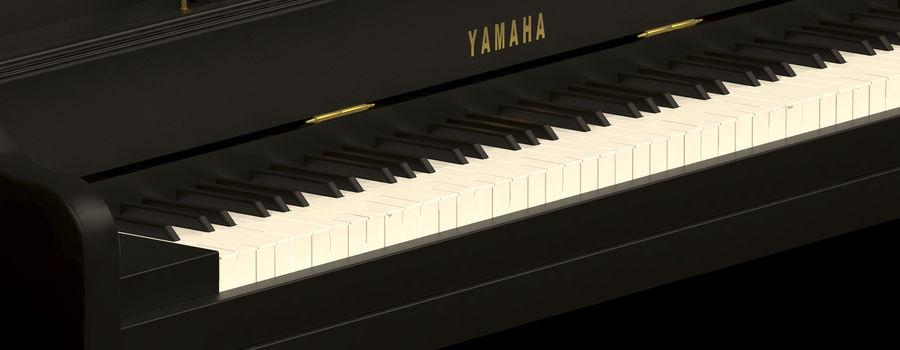 Пианино Yamaha royalty-free 3d model - Preview no. 3