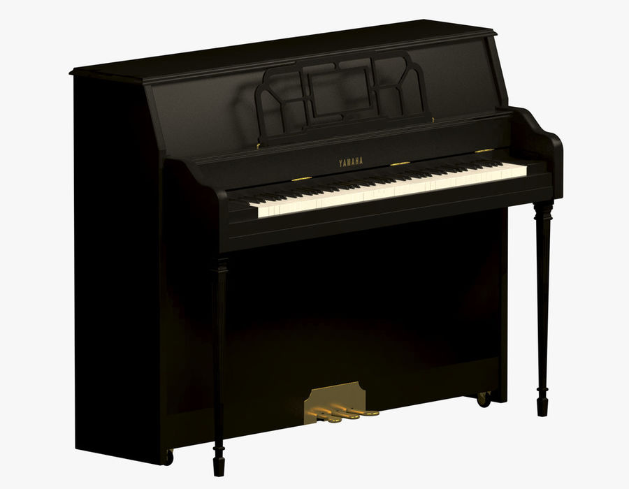 Пианино Yamaha royalty-free 3d model - Preview no. 2