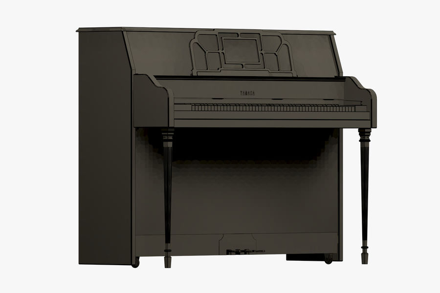 Пианино Yamaha royalty-free 3d model - Preview no. 4