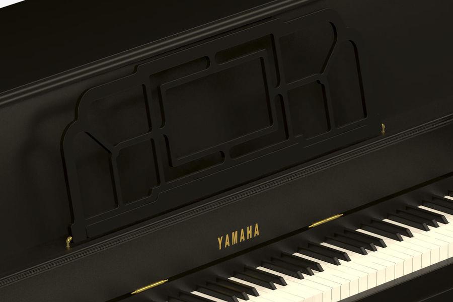 Пианино Yamaha royalty-free 3d model - Preview no. 6