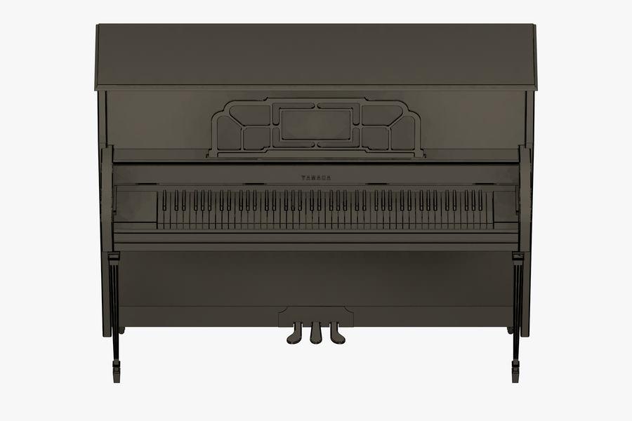 Пианино Yamaha royalty-free 3d model - Preview no. 5