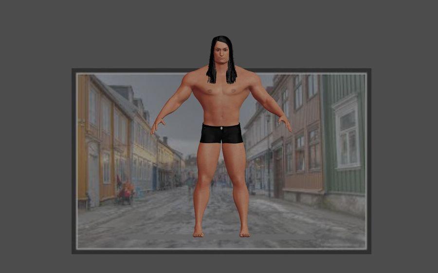 Человеческие Модели Пакет 1 royalty-free 3d model - Preview no. 5