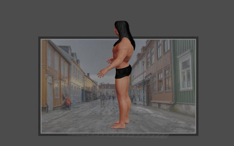 Человеческие Модели Пакет 1 royalty-free 3d model - Preview no. 4