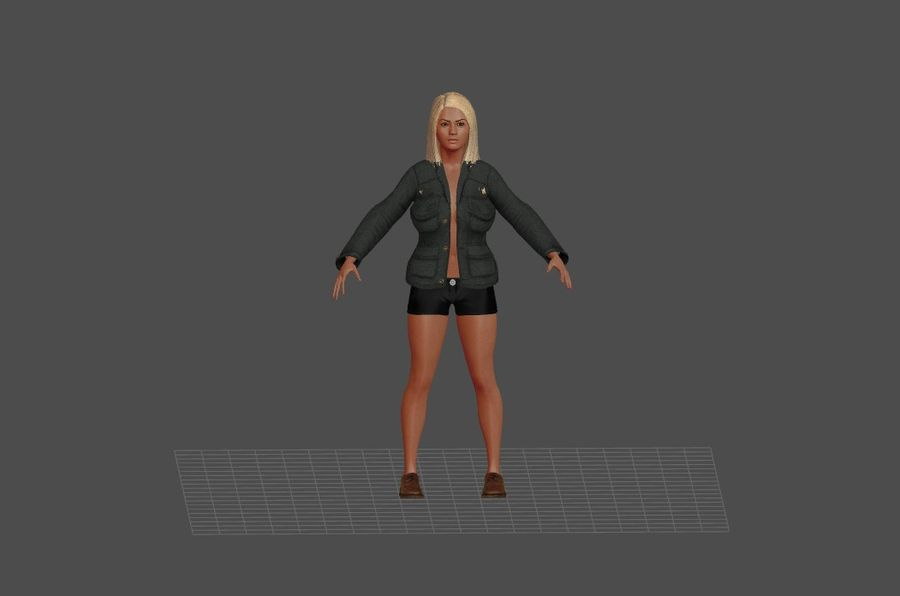 Человеческие Модели Пакет 1 royalty-free 3d model - Preview no. 1