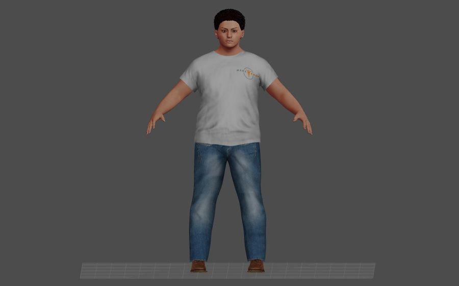 Человеческие Модели Пакет 1 royalty-free 3d model - Preview no. 2