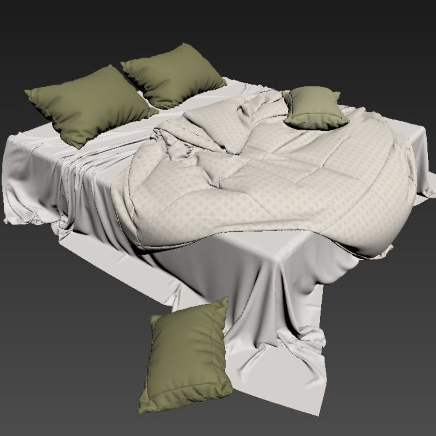 bedcloth royalty-free 3d model - Preview no. 5