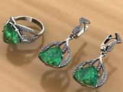 jewelry set 3d model