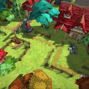 Paquete completo de ambiente de fantasía modelo 3d