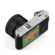 黒のデジタルカメラ 3d model