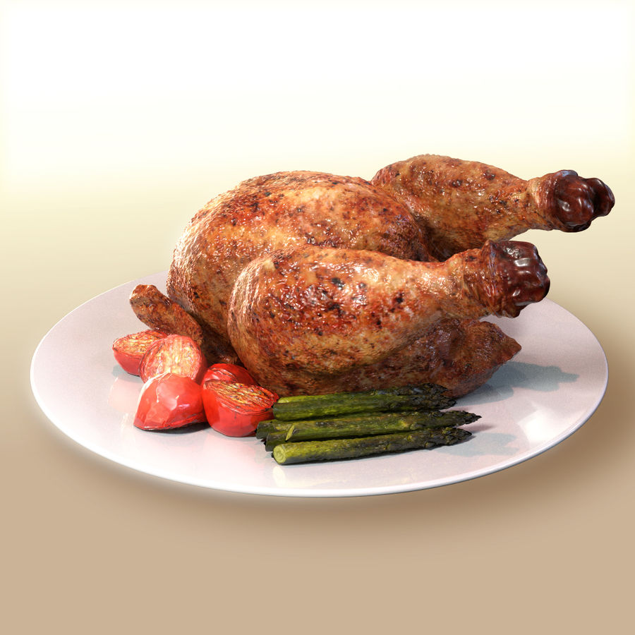 fried chicken royalty-free 3d model - Preview no. 3