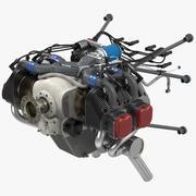 活塞飞机发动机ULPower UL260i 3D模型 3d model