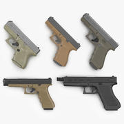 글록 권총 3D 모델 컬렉션 3d model