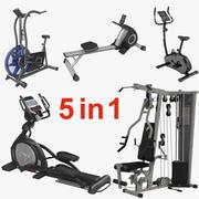 运动器材3D模型收藏 3d model