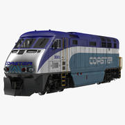 Diesel Electric Locomotive F59 PHI Coaster 3d model