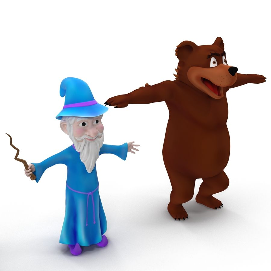 Cartoon Characters Collection royalty-free 3d model - Preview no. 7