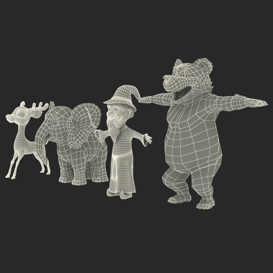 Cartoon Characters Collection royalty-free 3d model - Preview no. 71