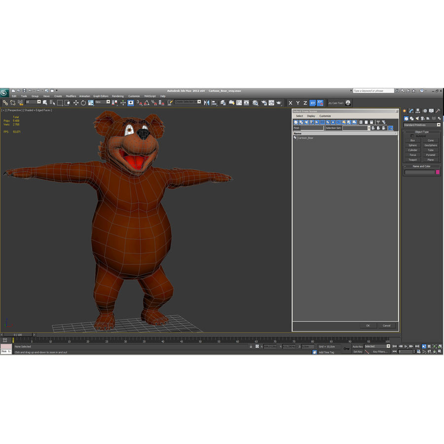 Cartoon Characters Collection royalty-free 3d model - Preview no. 67