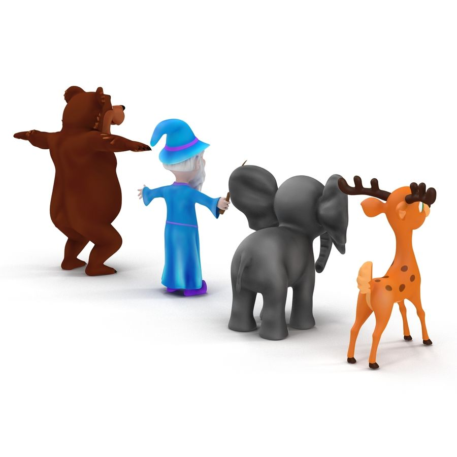 Cartoon Characters Collection royalty-free 3d model - Preview no. 4