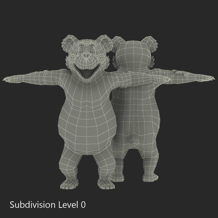 Cartoon Characters Collection royalty-free 3d model - Preview no. 51