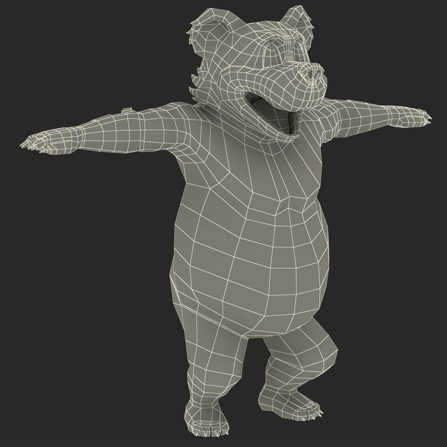 Cartoon Characters Collection royalty-free 3d model - Preview no. 78