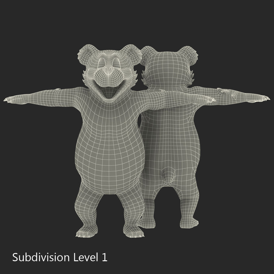 Cartoon Characters Collection royalty-free 3d model - Preview no. 52