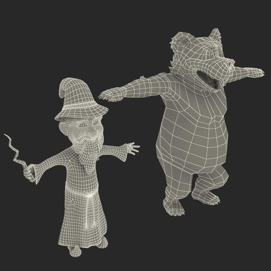 Cartoon Characters Collection royalty-free 3d model - Preview no. 75
