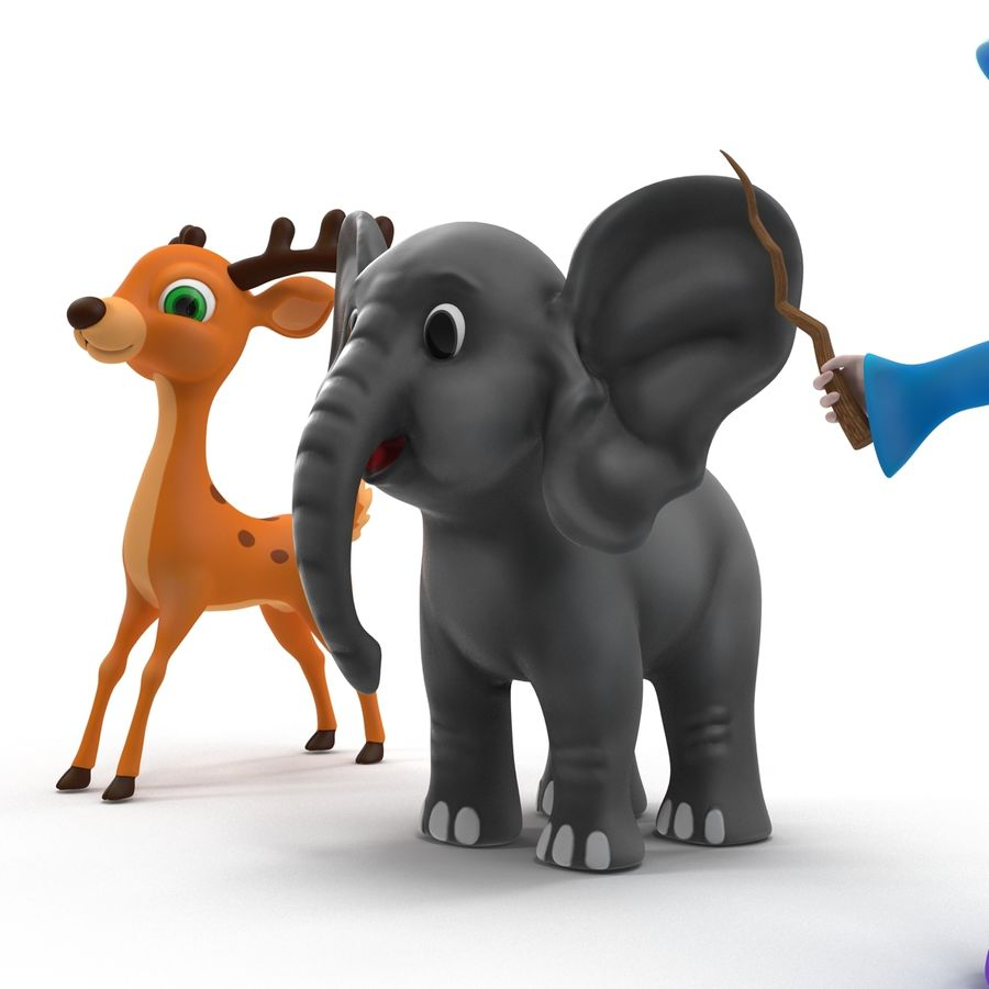 Cartoon Characters Collection royalty-free 3d model - Preview no. 6