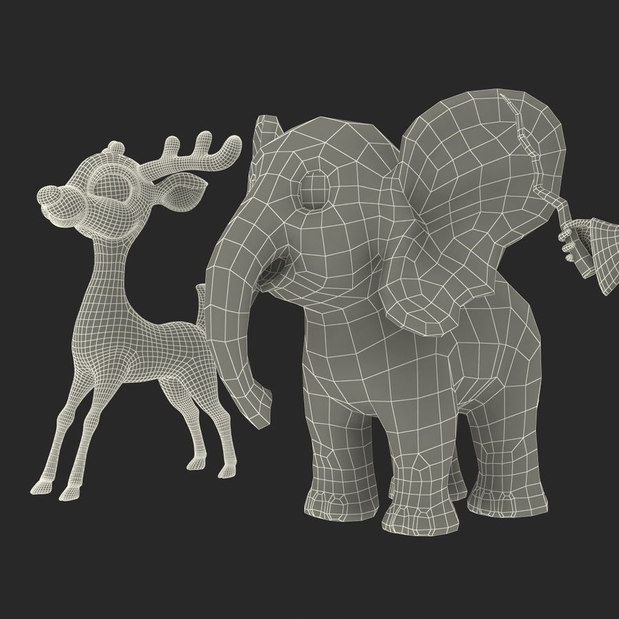 Cartoon Characters Collection royalty-free 3d model - Preview no. 74