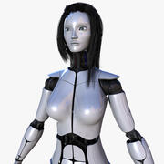 Female Robot Pro [Not Rigged] 3d model