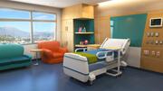 stanza d'ospedale dei cartoni animati 3d model