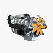 Дизельный двигатель V8 для грузовиков 3d model