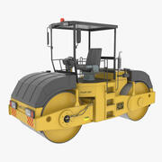 Asphalt Road Roller 3d model