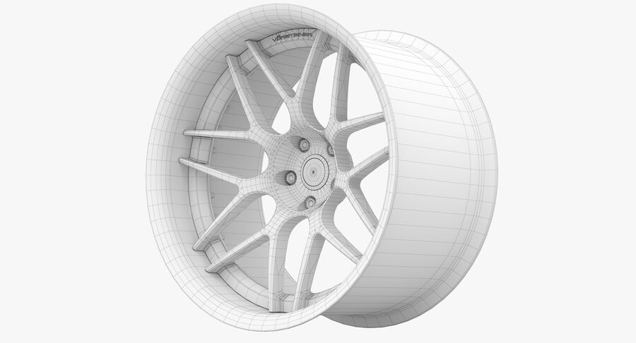 Rims Pack - Asanti & HRE & Vossen & Vorsteiner royalty-free 3d model - Preview no. 29