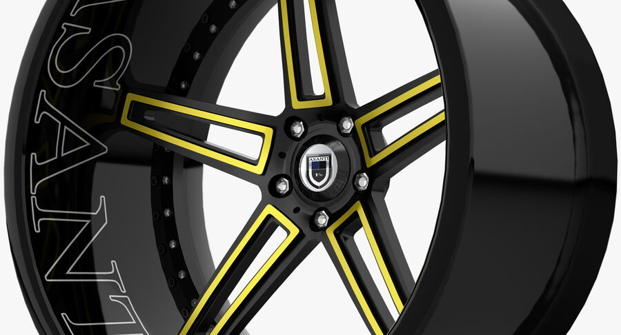 Rims Pack - Asanti & HRE & Vossen & Vorsteiner royalty-free 3d model - Preview no. 15