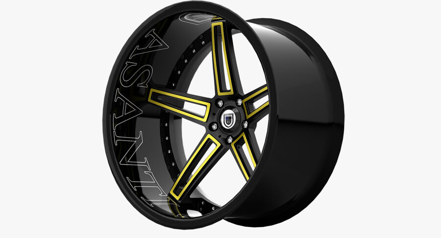 Rims Pack - Asanti & HRE & Vossen & Vorsteiner royalty-free 3d model - Preview no. 13